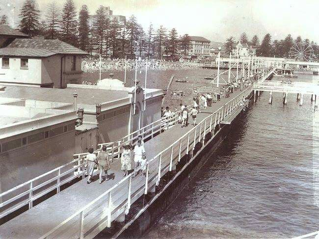 Manly Wharf in the Northern Beaches region of Sydney in the 1950s.