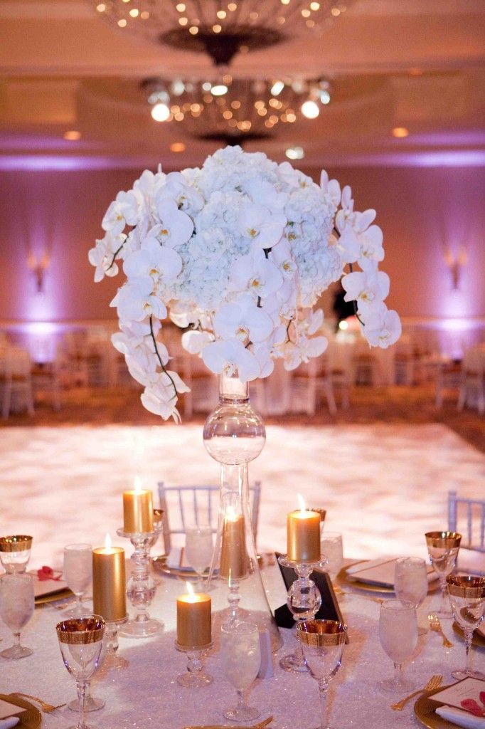 Orchid Ice Centerpiece