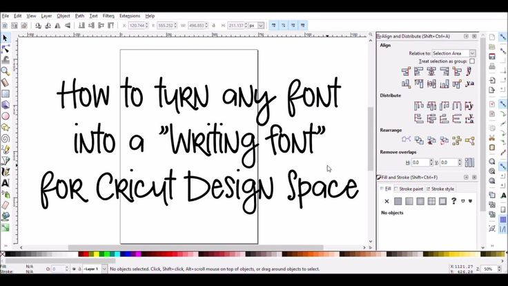 Make Any Font a Writing Font for Cricut Design Space