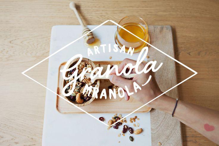 Visual identity for a homemade granola brand.