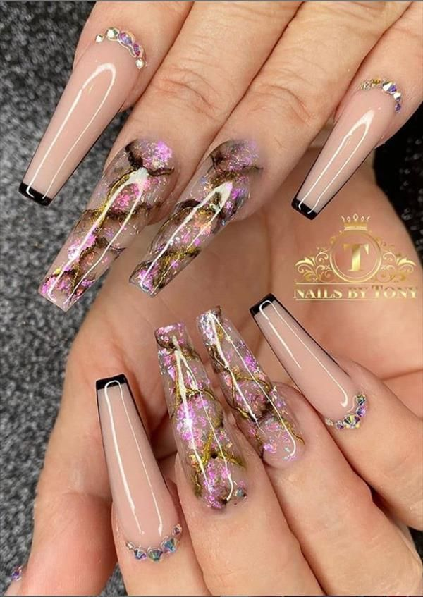 The 85 Best long Acrylic Coffin Nail Ideas For This Spring