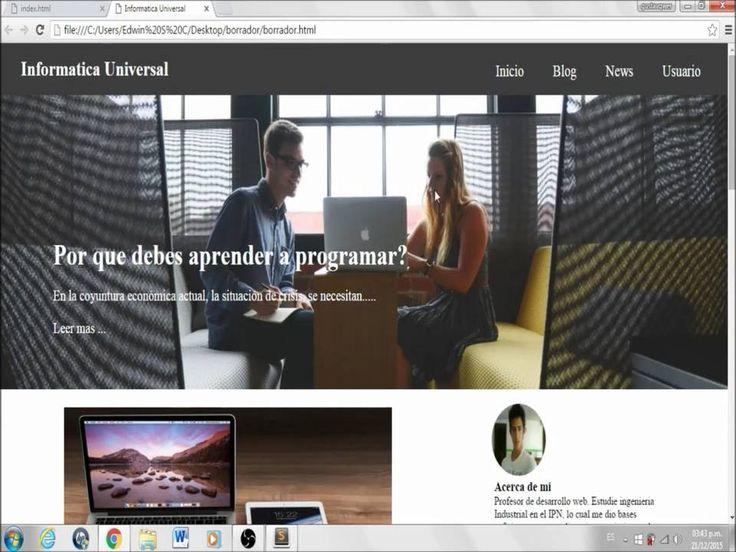 HTML5 & CSS3 - 1 - Como hacer una pagina web responsive (INTRO)