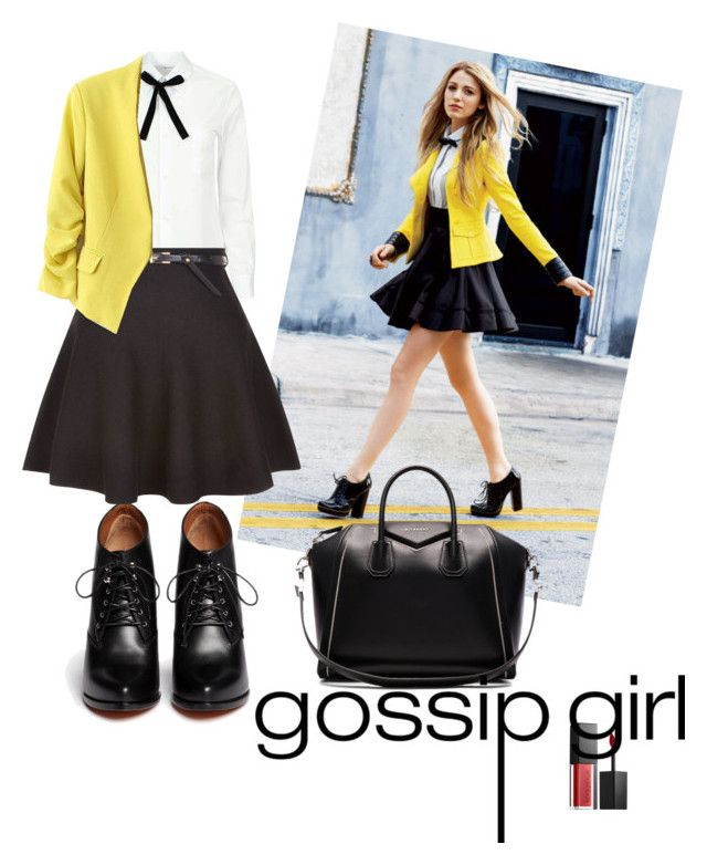 """""""school looks """" by meytaastuti on Polyvore featuring Givenchy, Comme des Garçons, New Look and Smashbox"""