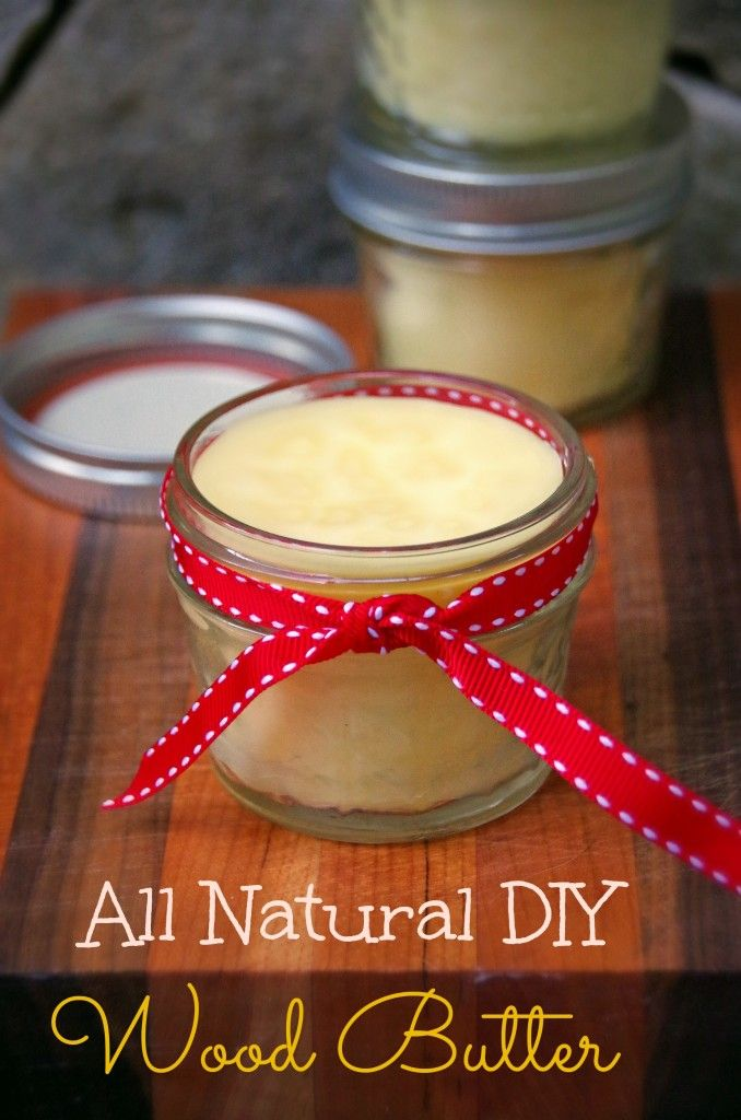 DIY All Natural Wood Butter.  Makes an easy homemade gift idea for home chefs!