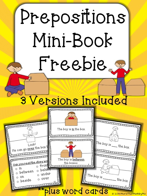 More Than Math by Mo: Happy Friday! It's FREEBIE Friday!