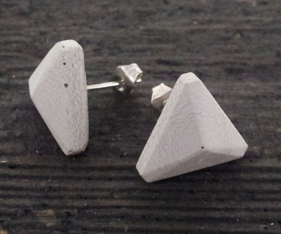 Concrete Stud Earrings by Vincent Sawyer