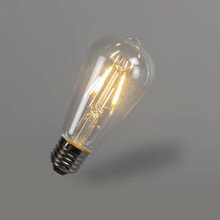 Bombilla filamento LED ST64 4W 2700K transparente