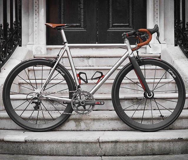 Passoni Titanium Top Force Road Bike by @BespokeCycling @passoni_bikes #cycling #biking #cyclist #titanium #bike #bicycle #roadbike #bikeporn #hizokucycles HizokuCycles.com