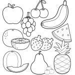 Printable Healthy Eating Chart & Coloring Pages - Happiness is Homemade