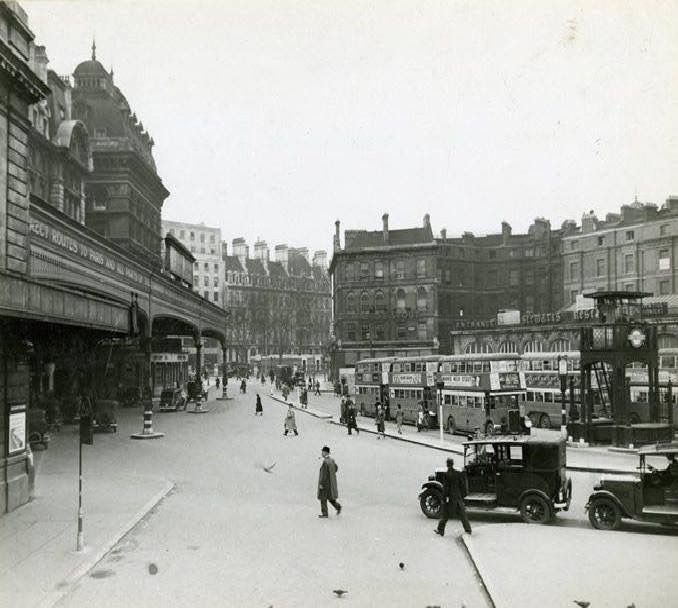 London Victoria Train Station in London England in 1940