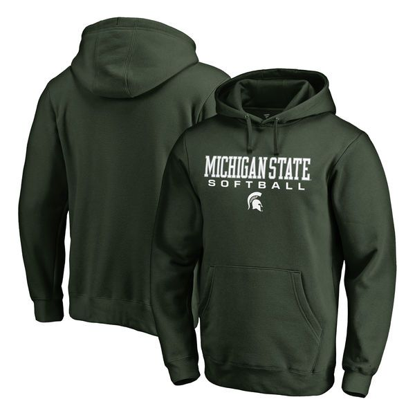 Michigan State Spartans Fanatics Branded True Sport Softball Pullover Hoodie - Green - $44.99