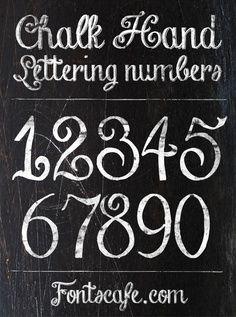 chalk board art lettering - Google Search