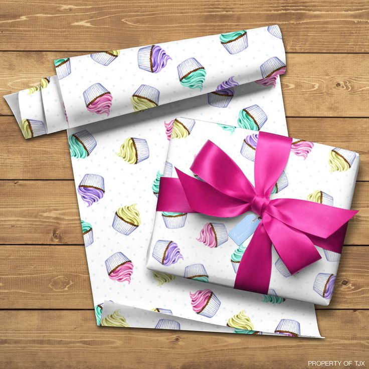 cupcake pattern design, photoshop mock-up property of TJX companies