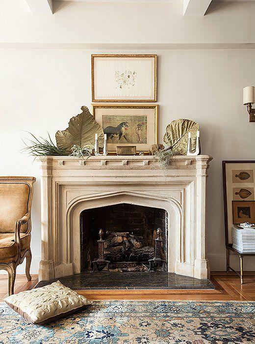 205 best fireplace mantels images on pinterest fireplace - Decor above fireplace mantel ...