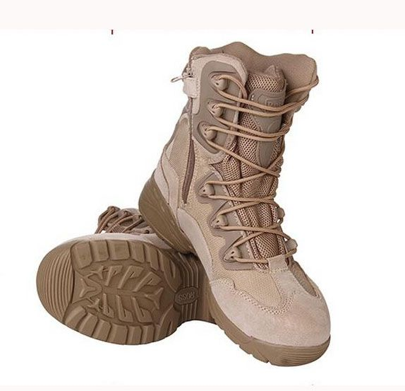 Spring Autumn Desert Tactical Military Men Boots Army Combat Boots Genuine Leather Outdoor Trainer Climbing Work Safe Boots