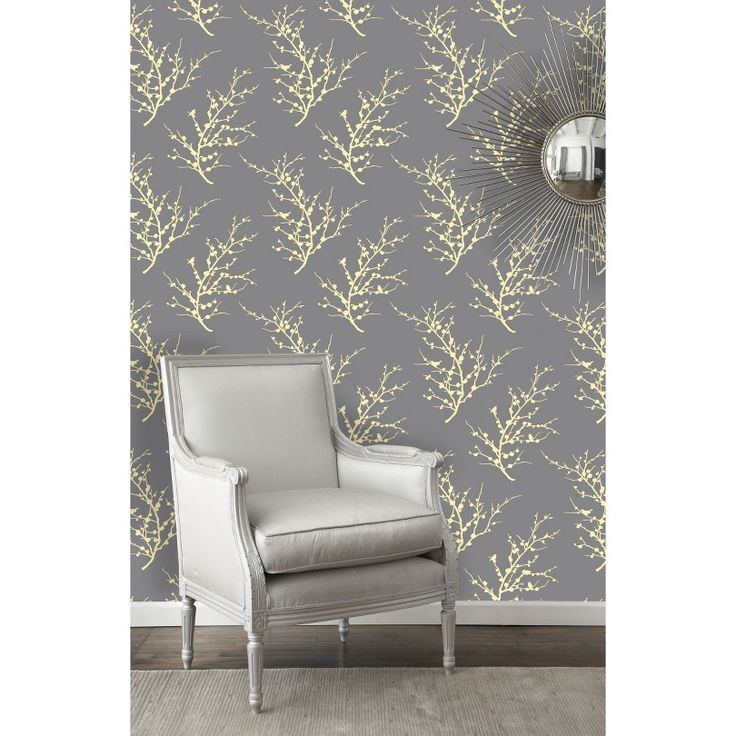 Tempaper Peel and Stick Wallpaper - Yellow/Gray