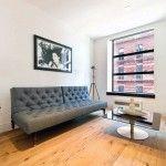 Classic Simple Grey Sofa for Apartment Living Area