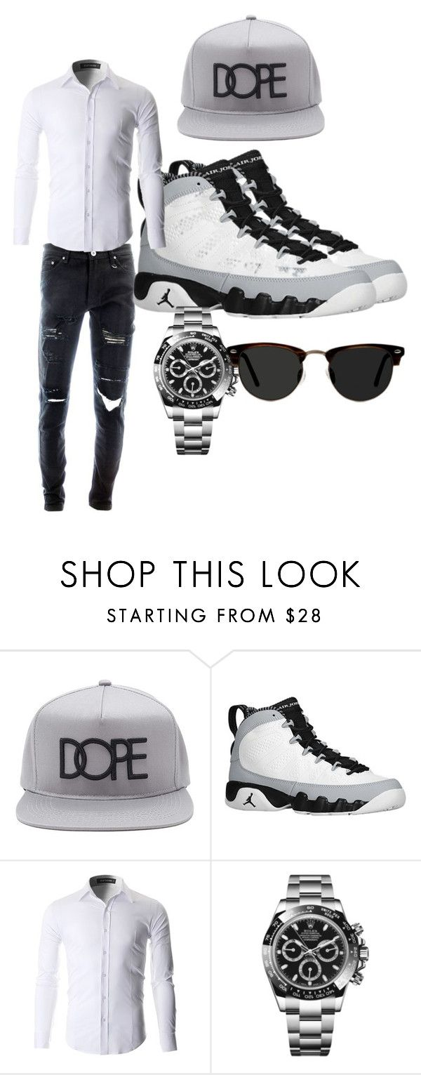 """""""FRESH"""" by swaggeromar ❤ liked on Polyvore featuring 21 Men, Retrò, Rolex, Ace, men's fashion and menswear"""