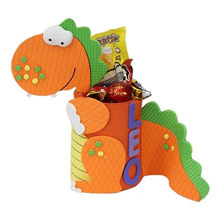 Proyectos |Cubre lata dulcero dinosaurio