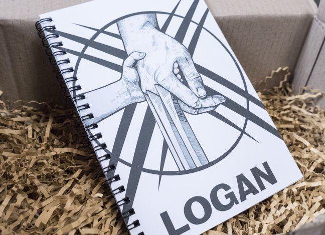 """Fangirlalarm: Inhalt der Marvel-Box von Avas Box – Notizbuch X-Men """"Logan"""""""