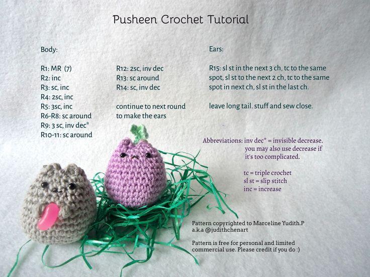 Pusheen Amigurumi Free Pattern : 1000+ ideas about Crochet Cats on Pinterest Crocheting ...