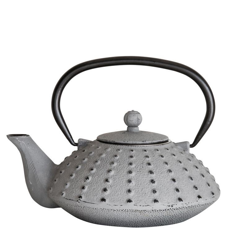 Cast Iron Teapot – Light Grey
