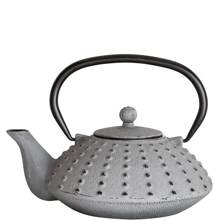 Cast Iron Teapot – Light Grey