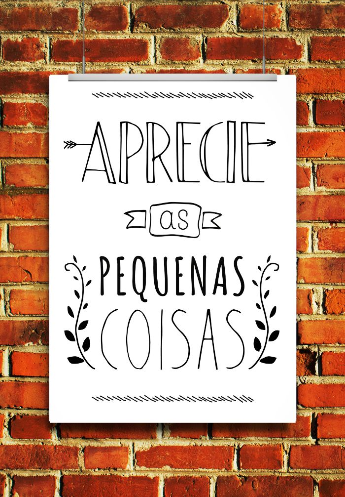 freebie - free printable - gratis - poster - quadrinho - wall art - aprecie as pequenas coisas - frase - quote