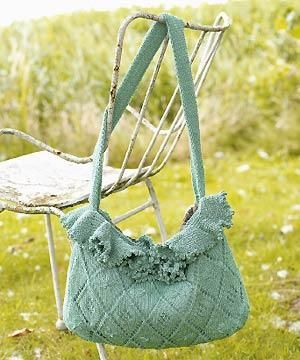 Download the knitting pattern for this frilled bag, gratis ...
