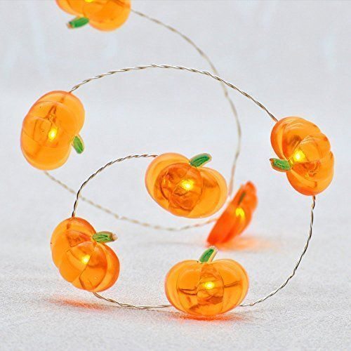 Thanksgiving Harvest String Lights, Impress Life Pumpkin Lights 10 ft Copper Wire 40 LEDs Battery-powered for Indoor, Covered Outdoor, Halloween, Parties, DIY Dorm Home Decorating with Remote & Timer - About Outdoor Use For indoor/covered outdoor use both. Battery box is made of PP and sealed by quality silicone protective ring to offer excellent water resistant ability and meets IP64 requirements. Warning: 1. DO NOT soak the battery box in water. 2. Customers may receive product in package