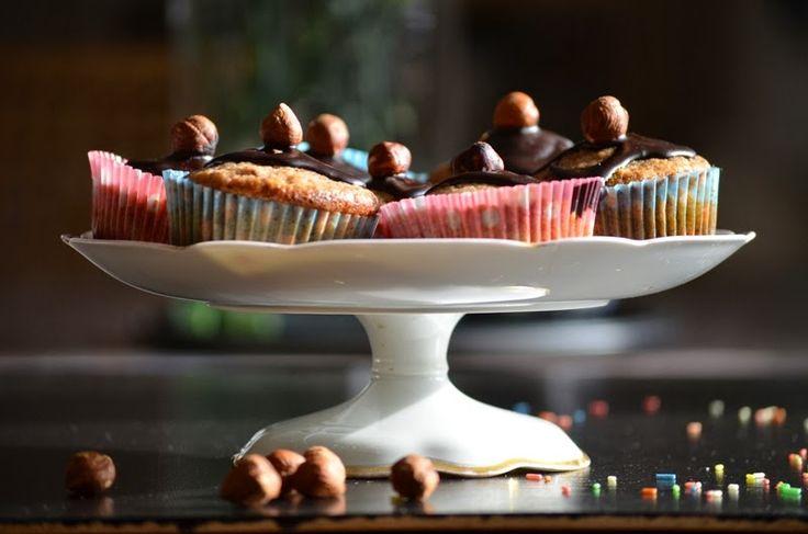Ořechové muffiny s čokoládou | Jane at home