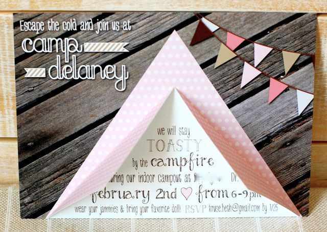 Invite at a Camping Party #camping #partyinvite