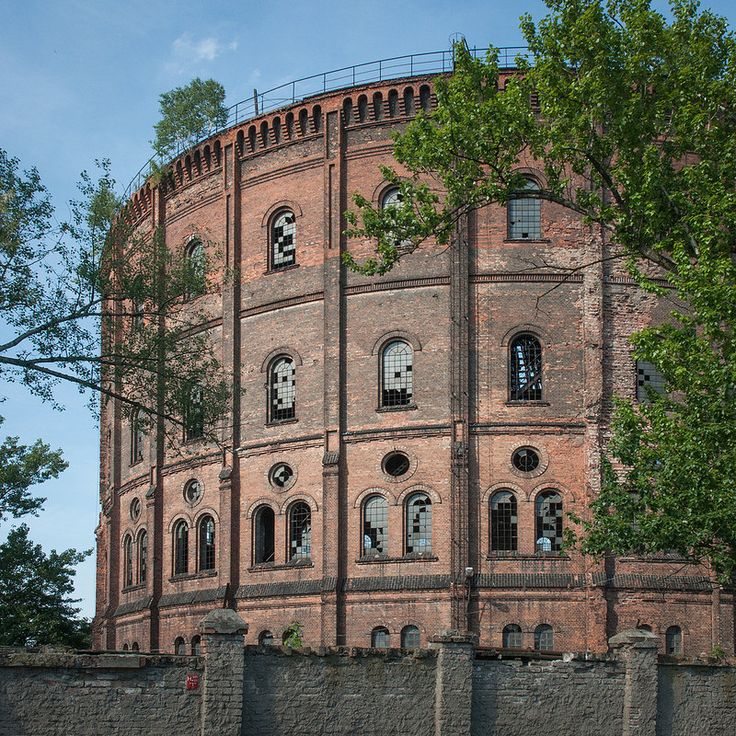 Wola Gasworks Factory (now Abandoned) in the Wola District, former Dworska St (today Kasprzaka St), Warsaw, Poland, built in 1886-1888. After the outbreak of WW II the Gasworks halted operations as its buildings suffered severe damage. In June 1945 the Gasworks resumed gas production after having reconstruction work done and operated until 1978. Today, the building of the former machine room has been converted into the Gas Industry Museum and admission to the Museum is free.