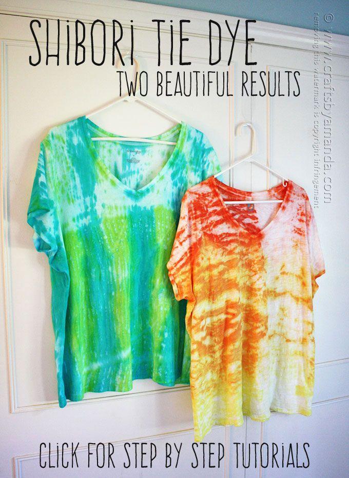 Shibori Tie Dye - Cool Hues by Amanda Formaro, Crafts by Amanda