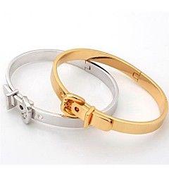 u7®派手なヴィンテージカフバングルの宝石類のギフトの女性または男性のための18K本物の金プラチナブレスレットメッキ – USD $ 12.99
