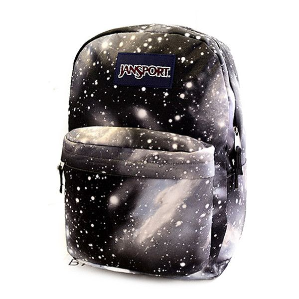 Galaxy Print Cool Backpack School Bag ($25) ❤ liked on Polyvore featuring bags, backpacks, backpacks bags, planet bags, knapsack bags, galaxy bag and black rucksack