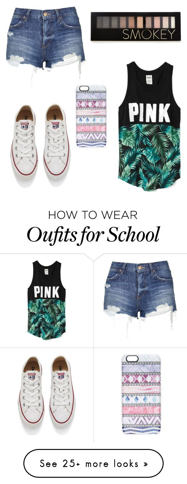 """""""Popular Looks - High School #2"""" by ashleymmck on Polyvore featuring Victoria's Secret, Topshop, Converse, Casetify, Forever 21, women's clothing, women, female, woman and misses"""
