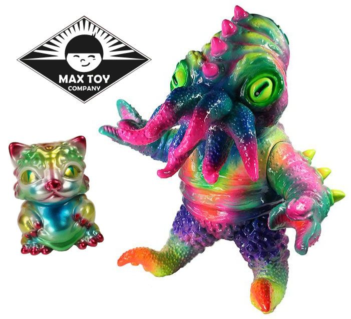 """Metallic"" Chubz the Cat & ""Neon"" Kaiju TriPus from Max Toy Co.!!!"