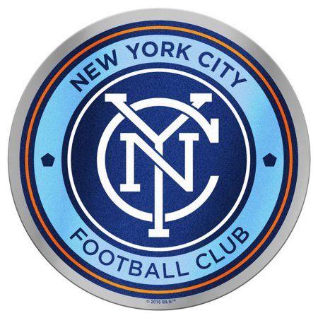 New York City FC Team Logo Plastic Color Emblem, Blue