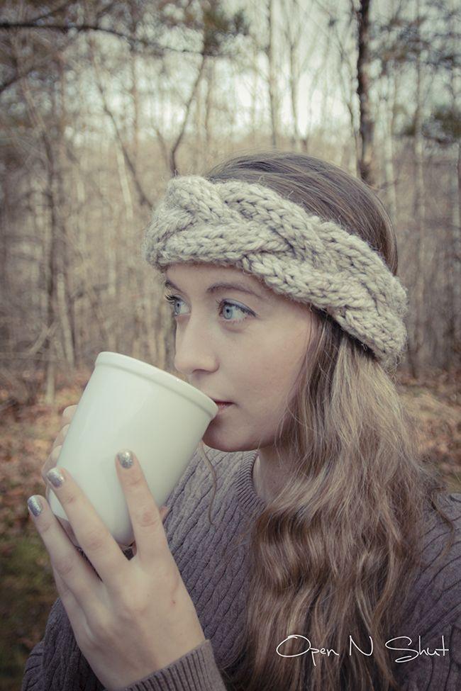DIY: chunky cable knit headband
