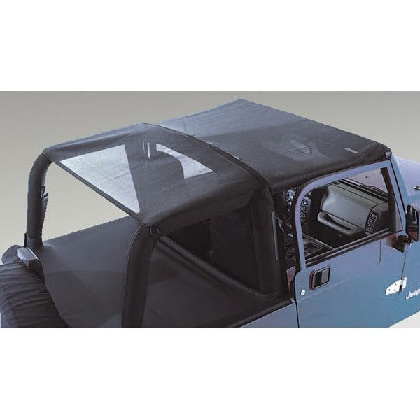 Mesh Roll Bar Top; 92-95 Jeep Wrangler YJ