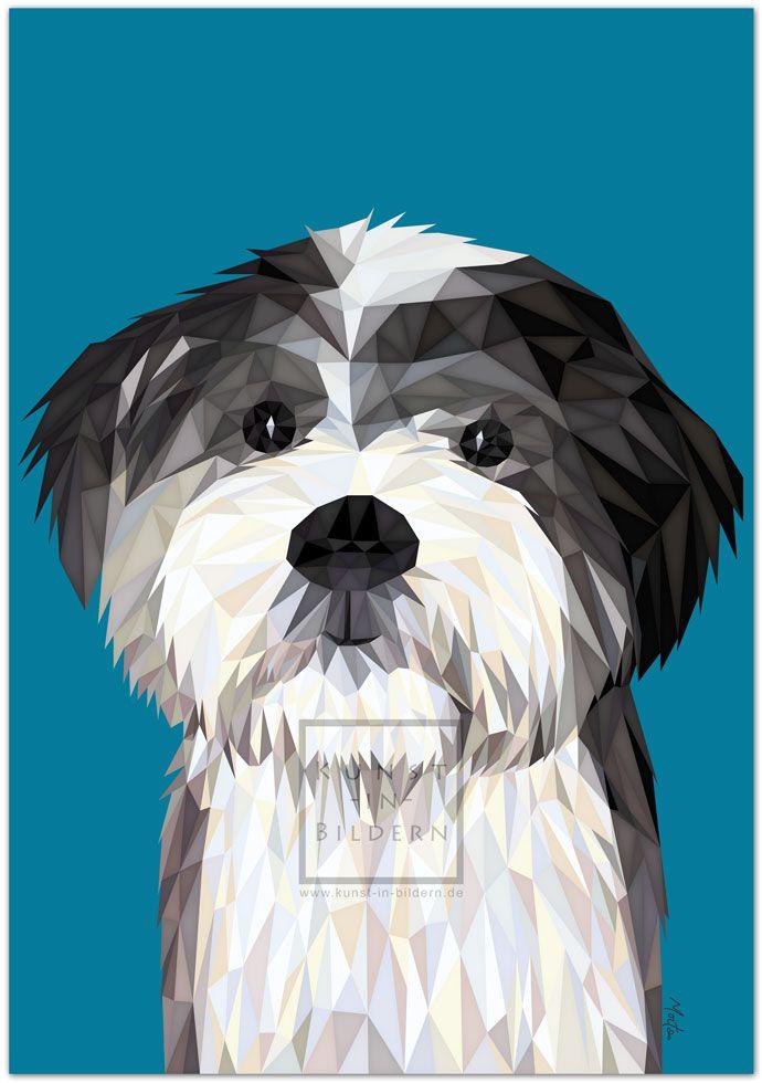 Ich bin ein Tibet-Terrier by Moitao. #hund #dog #hunde #dogs #kunst #art #digital #illustration #tibet #tibetterrier #terrier | http://www.kunst-in-bildern.de/bildergalerie/tibet-terrier
