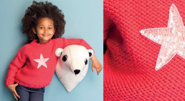 Le pull jersey à étoile http://www.prima.fr/mode-beaute/pull-gratuit-tricot-enfant-etoile/7953894/