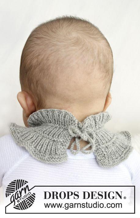 Gebreide DROPS baby sjaal van Baby Merino.   Gratis patronen van DROPS Design.