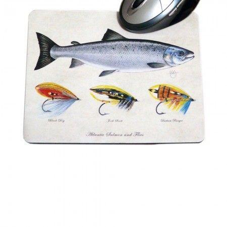 Salmon Flies Mouse Mat - £10.99