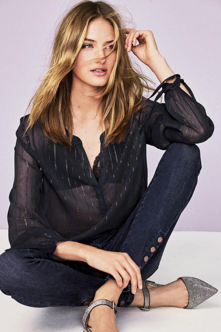 Koop Metallic gestreepte blouse vandaag online bij Next: Nederland