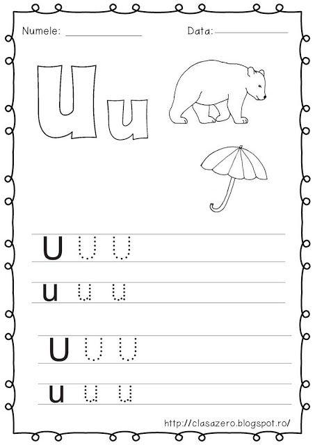 Clasa pregatitoare: Fisa de lucru pentru sunetul si litera U
