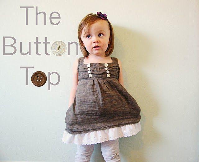 kids' button top tutorial....: Little Girls, Cute Tops, Dresses, Girls Clothing, Children Clothing, Clothing Tutorials, Kids Clothing, Sewing Tutorials, Buttons Tops