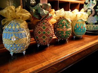 Living the Good Life, A Collection of Design Faberge needlepoint Easter Eggs