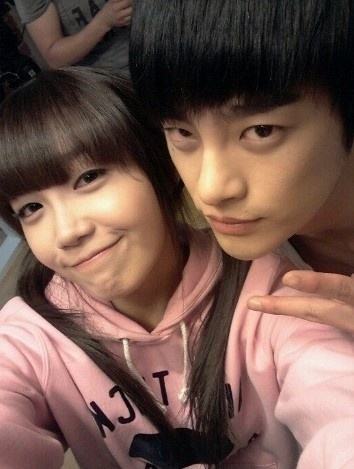 Reply 1997 couple - Eun-Ji & Seo In-Guk. The couples' fringe (in complementary colors)